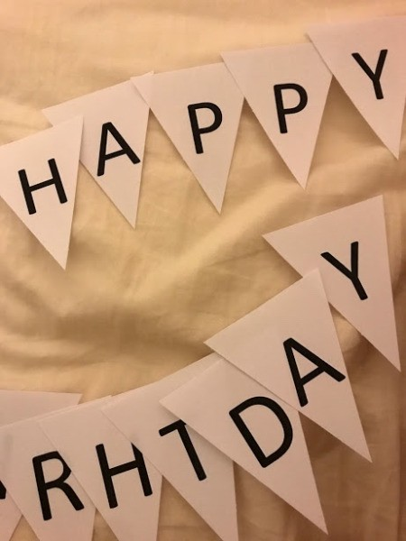 Happy Birthday Printable Banner - all letters cut out