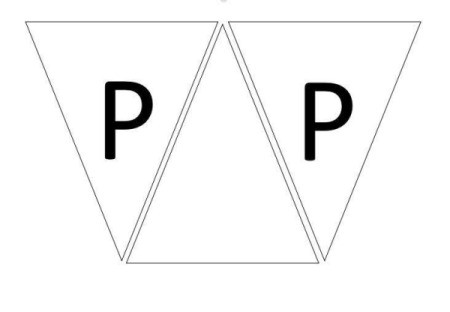 Happy Birthday Printable Banner - add a third triangle between the first two