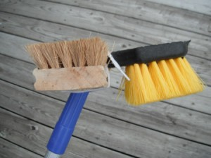 Make Your Own Gutter Guard Sweeper - homemade gutter guard cleaning brush assembly
