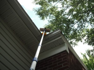Make Your Own Gutter Guard Sweeper - ready to use