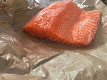 Filleting Fresh Salmon