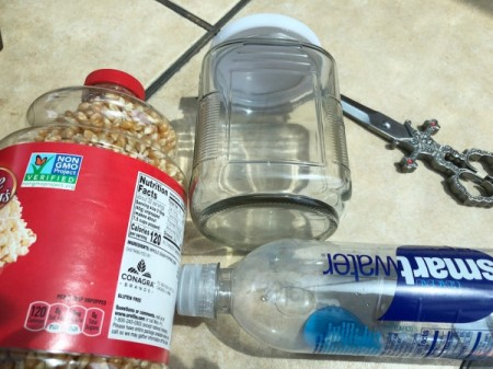 Popcorn Kernel Jar Secret Safe - supplies