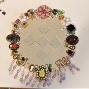 BeJeweled' Mirror - finished mirror with mirror tiles in center