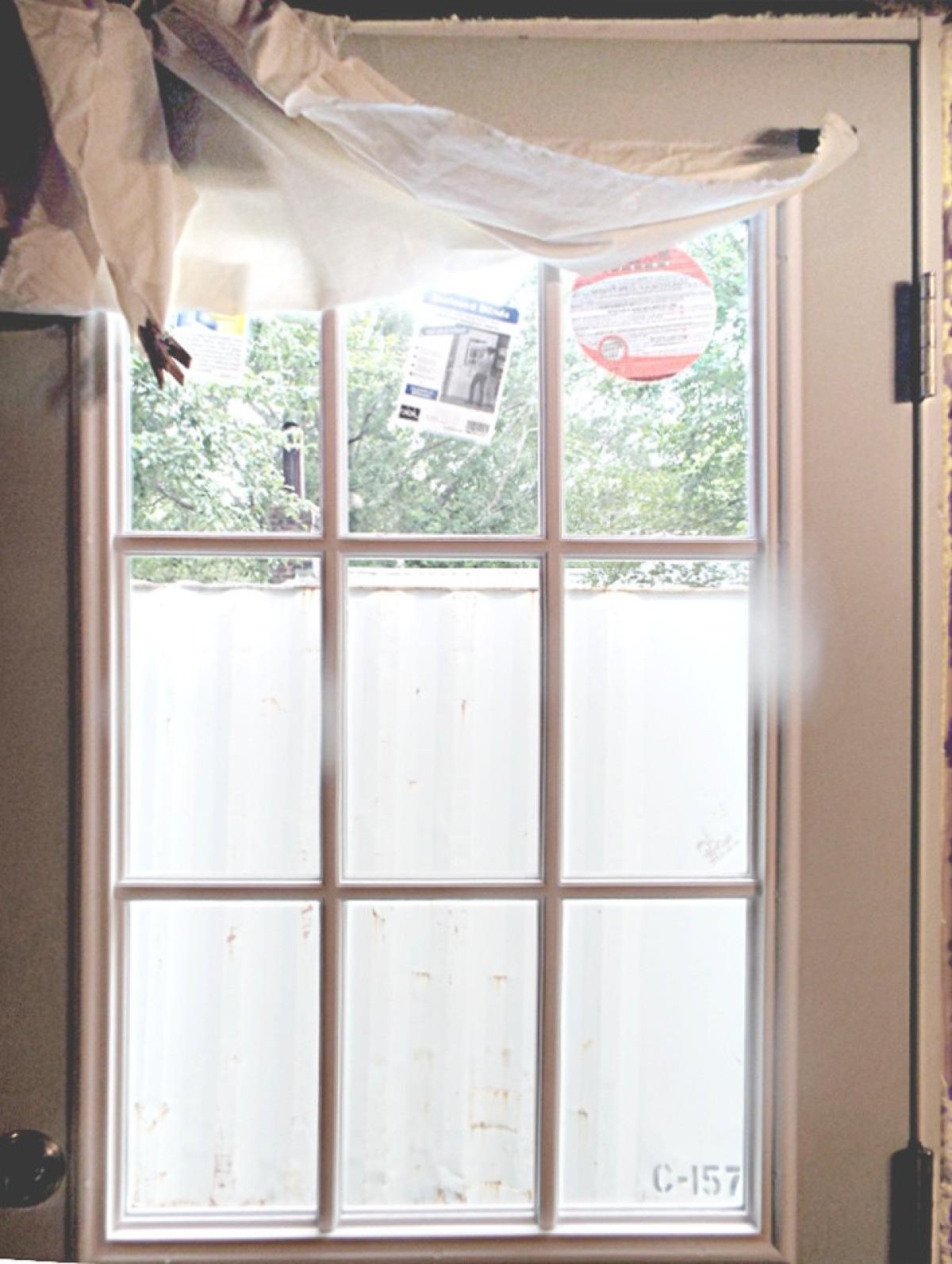 Using Decorative Window Film On A Kitchen Exterior Door Thriftyfun
