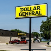 Dollar General storefront and sign.