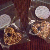 Bird Seed Heart Wedding Favors - favors in bags