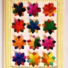 Bunch of Flowers Birthday Card - finished card with second flower layer added
