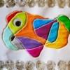 Colorful Doodle Monster - finished doodle monster with wiggle eye added