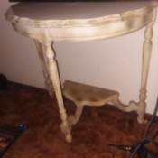 Value of a Mersman Table #4146 - painted half circle wall table