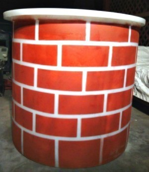 Making a Fireplace Prop - painted container