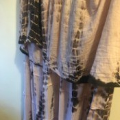 Black and White Tie Dye Ran in the Wash - dye ran onto the white portion of the dress