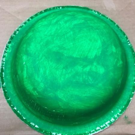Paper Bowl Pet Turtle Decoration - paint the underside of the bowl
