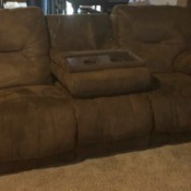 Finding a Slipcover for a Triple Recliner - brown triple reclining couch