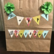 Happy Birthday Gift Bag - ready to add tissue paper