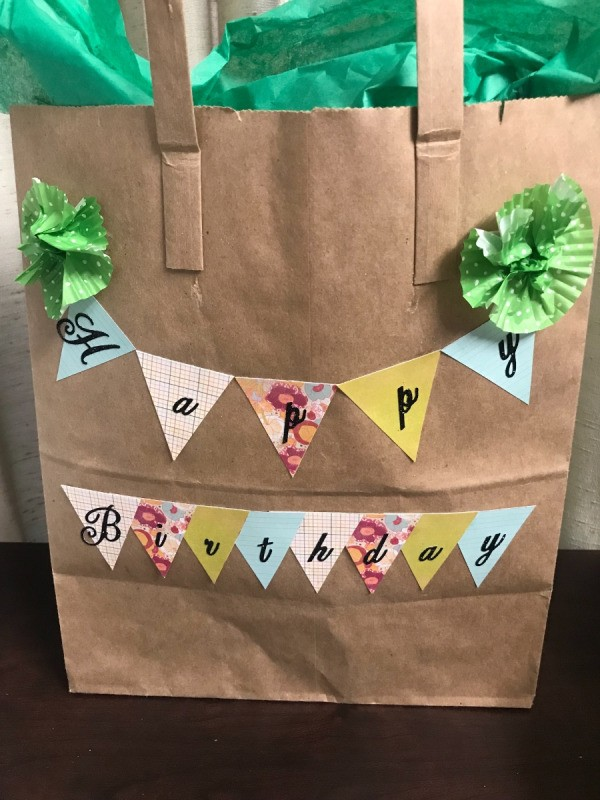 Need A Last Minute Gift Bag You Can Make Your Own With Plain Kraft Paper Grocery I Had An Irregular Shaped Helmet That Really Couldn T Be