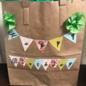 Happy Birthday Gift Bag - filled bag