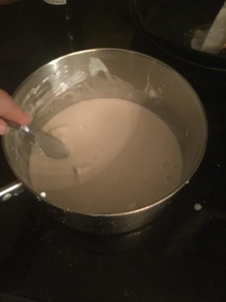 heating coconut in pan