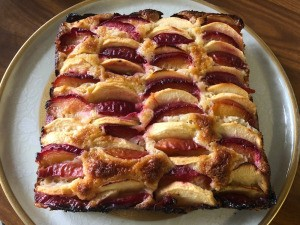 Apple Plum Cake on plate