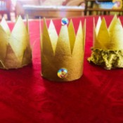 Cardboard Tube Crowns - three crowns