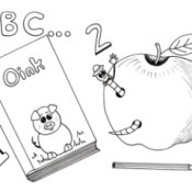 Back to School Kids' Coloring Page - school related images