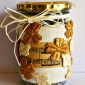 Pumpkin Seed Blessing Jar - closeup of finished gift jar