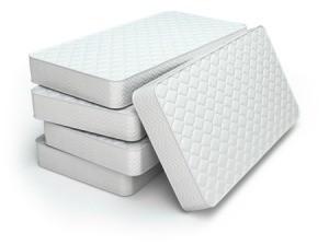 Pile of mattresses.