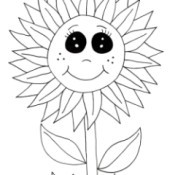 Fun Fall Activities For Kids - cute sunflower coloring page