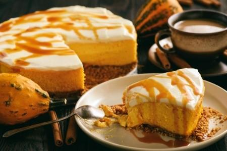 Pumpkin and Caramel Cheesecake.
