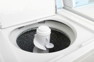 Open top loading washing machine.