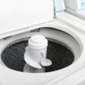 Open top loading washing machine.