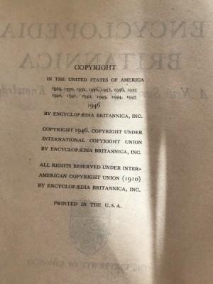 Value of 1946 Set of Encyclopedia Britannica