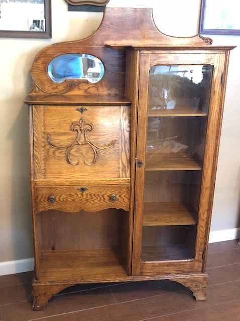 Selling an Antique Drop Down Desk - oak desk ... - Selling Antique Furniture ThriftyFun