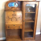 Selling an Antique Drop Down Desk - oak desk