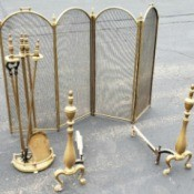 Value of Brass Fireplace Tools and Screen
