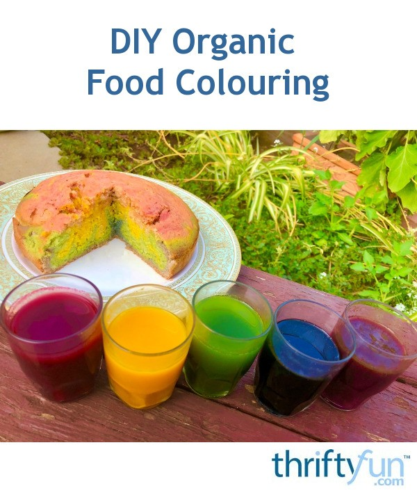 DIY Organic Food Colouring   ThriftyFun