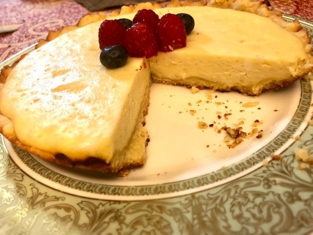 Stovetop Cheese Tart on plate