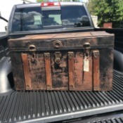 Information on an Old Steamer Trunk - trunk in the back of a pickup truck
