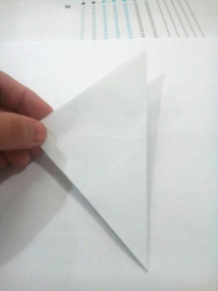 Folded Paper Star  - diagonal fold
