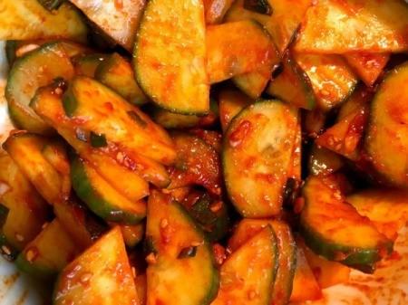 Spicy Cucumber Salad mixed