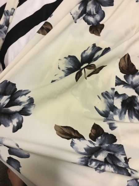 Removing a Stain on a Polyester Dress - yellow stain