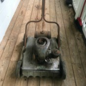 Value of a Falls Roto Clipper Lawnmower - old  gas mower