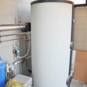 Hot water heater.