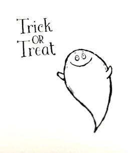 """Halloween """"Trick or Treat"""" Card - ghost and Trick or Treat printout"""