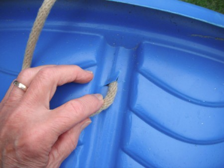 Use a Baby Pool to Cleanup Yard Debris