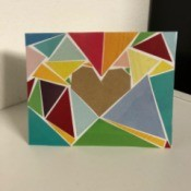 Geometric Heart Card - finished card face