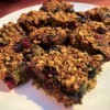cut Breakfast Bars on plate