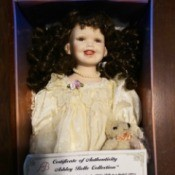 Value of an Ashley Belle Collection Doll - doll in a box with certificate