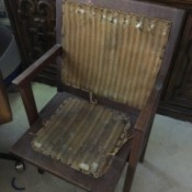 Value of an Antique Theater Seat - folding wooden chair