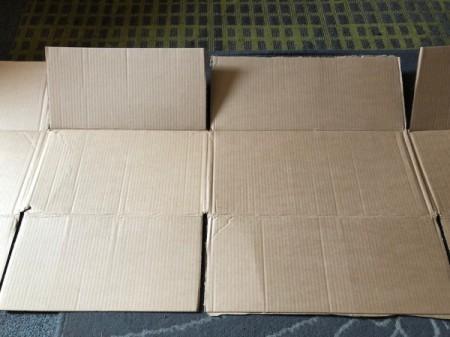 DIY Shirt Folding Board - unfold the box
