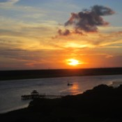 Sunset in Charleston, South Carolina - sunset over a lake